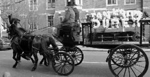 Ian Dury's funeral carriage